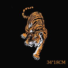 large patch back patch tiger Patch animal by blackmanstore on Etsy