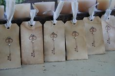 The rustic key tags | Flickr - Photo Sharing!