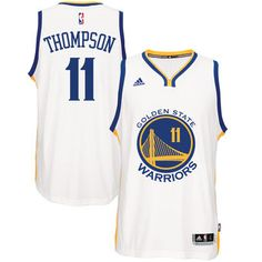 55821812a Men s Golden State Warriors Klay Thompson adidas White Home Swingman Jersey   WarriorsParade  WarriorsGround