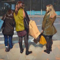 "Daily Paintworks - ""Big Shopping Day"" - Original Fine Art for Sale - © Carol Marine"