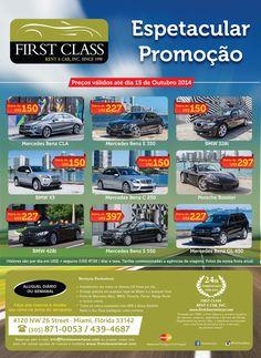 Cliente: FIRST CLASS Rent a Car Seguimento: Locação de Veículos