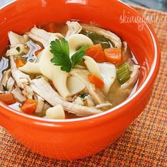 Leftover Turkey Noodle Soup - My favorite way to use up leftover turkey is to make a delicious pot of turkey soup. This is also a great way to clean out your refrigerator! To make the best Korma, Biryani, Healthy Soup Recipes, Vegetarian Recipes, Skinny Recipes, Leftover Turkey Soup, Turkey Leftovers, Turkey Noodle Soup, Turkey Broth
