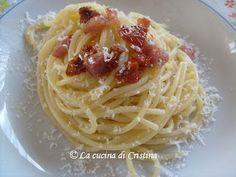 Spaghetti ai pomodori secchi - Spaghetti cu rosii uscate