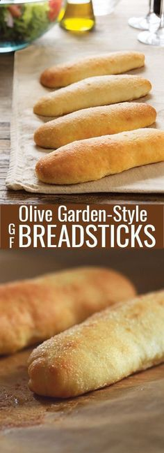 These soft gluten free breadsticks are a homemade version of the famous Olive Garden breadsticks. Fluffy and soft inside, with a thin, almost crispy layer outside, and covered in garlic butter.http://glutenfreeonashoestring.com/soft-gluten-free-breadsticks/