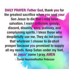 Daily Prayer Daily Prayer, Jealousy, Choose Me, Gossip, Favorite Quotes, Envy, Cinderella, Prayers, Strength