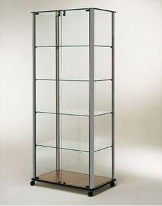 Vitrinas expositoras en aluminio Modelo 13ABL Medidas  780 x 450 x 1800