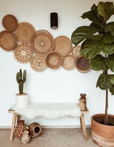 saturday mornings ⍜ The Effective Images We Offer you You About warm house decor cozy residing rooms Decor, Home Decor Inspiration, Home Living Room, Boho Living Room, Home Decor, Apartment Decor, Home Deco, Bedroom Decor, Baskets On Wall
