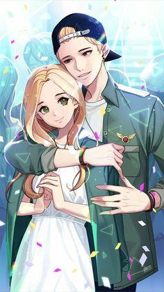 Otome game Loved by King Bs Ashton Griffin special date 2 Anime Cupples, Kawaii Anime, Anime Guys, Anime Couples Drawings, Anime Couples Manga, Anime Girl Cute, Anime Art Girl, K Project Manga, Manga Romance