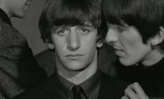The Beatles in A Hard Day's Night :) That Ringo being carried away GIF was my favorite.