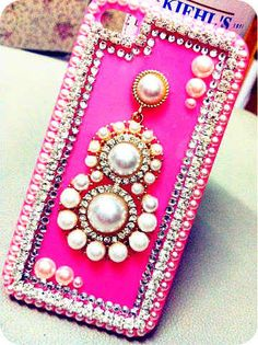 rose apple Phone cases pearl rhinestone unique iPhone 5 case bling iPhone 4s case India style iphone case iPhone 4 case