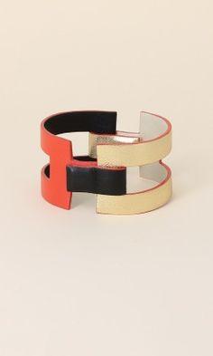 Bracelet cuir tricolore