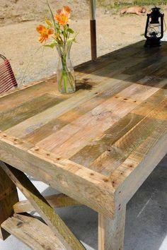 Mesa fabricada con pallets!!