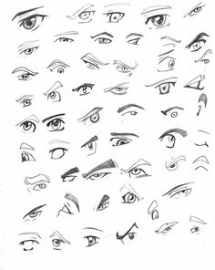 Ojos by ~Avenaco on deviantART Drawing Techniques, Drawing Tips, Eye Drawing Simple, How To Draw Anime Eyes, Eye Sketch, Real Anime, Sketch Inspiration, Bleach Anime, Manga Drawing