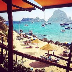 View from Es Boldado restaurant on Es Vedra, Magic rock / #IbizaEsVedra #Eivissa #esvedra