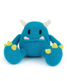 Mr. Blue by DIY Fluffies in 'Amigurumi Monsters' book // Dim the lights, bring out your flashlight and quickly check underneath your bed: this new book will reveal the most adorable amigurumi monsters!