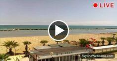 Nice view of the promenade and the beach of Viserbella di #Rimini. #Travel #webcam