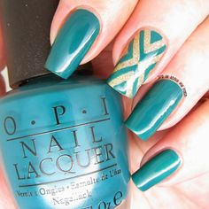 It's all about the polish: OPI Amazon...Amazoff - X nail design