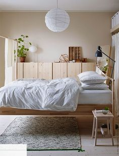 IKEA is the world's leading furniture and home appliance products manufacturer, every year IKEA launched a lot of products for sale worldwide. IKEA has been proved that they always give their bes Ikea Small Bedroom, Wood Bedroom, Bedroom Decor, Bed Ikea, Tarva Ikea Bed, 50s Bedroom, Design Bedroom, White Bedroom, Wall Decor