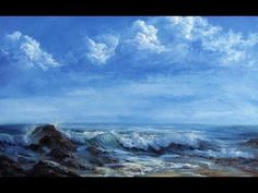 #98 Finally....something different. Oil painting a coastal scene - YouTube