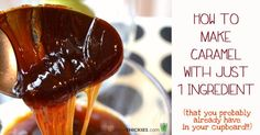 How to make caramel /syrup /honey with one ingredient (Sugar free, vegan, SCD, Gluten Free)