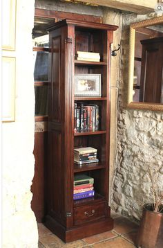 buy baumhaus la roque narrow alcove bookcase online by baumhaus furniture from cfs uk at unbeatable price