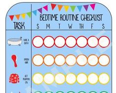 Printable Morning Routine Checklist girl | Etsy Morning Routine Checklist, Bedtime Routine, Potty Training Boys, Help Kids, Kid Names, I Am Happy, Your Child, Printables, Messages