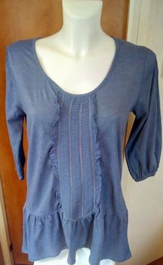 BNWT NEXT Ladies Blue Grey Sleeveless Layered Back Top Blouse