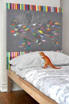 dino map headboard project...