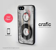 Clear Vintage Cassette Tape iPhone 5 Case by CRAFIC on Etsy, $19.99