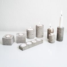 Concrete candlesticks DIY