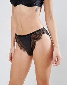4eeed635056 ASOS Lillie Satin Molded Half Cup Set in Black