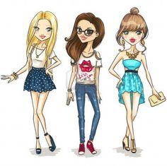 Bratz-style Fashion Girls Cartoon
