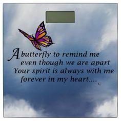 Butterfly Memorial Poem Tile   Zazzle.com Easy Baby Back Ribs Recipe, Butterfly Poems, Memorial Poems, My Forever, Love Poems, Office Gifts, Tile, Backyard, Memories