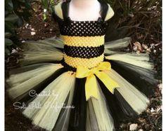 Bumblebee Dress Bumble Bee Costume Bee Tutu Dress by Tullapalooza