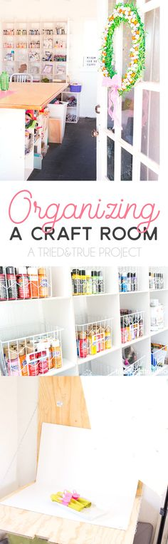 Organizing the Craft Cottage was tough work! Use these ideas to help you maximize efficiency for your own craft space.