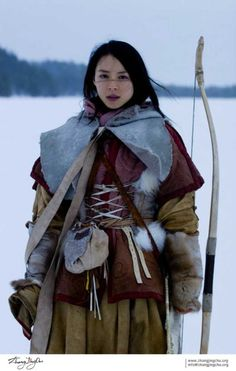 Ethnicity and Culture - Mongolia Poses, Beautiful People, Beautiful Women, Cosplay, Warrior Princess, People Of The World, Larp, Female Characters, Costume Design