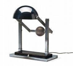Jacques Adnet Articulated table lamp, Compagnie des Arts Francais, Designed c. 1930