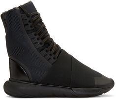 Y-3 - Black Qasa Boot High-Top Sneakers