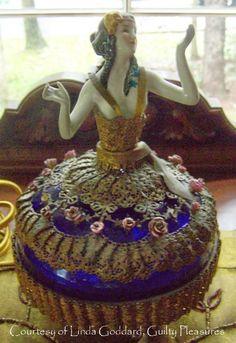 Frau Wulf's Boudoir Doll Blog: Ormolu Half Doll Powder Jars