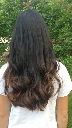 Asian Ombre Hair with long Layers and face frame!