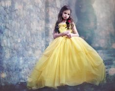 New 2017 Belle Princess Gown Costume in Yellow