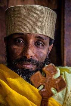 Portrait of a priest in the monastery of Debre Berhan Selassie in Gondar, Ethiopia. | Flickr - Photo Sharing! Photo by Anthony Pappone, photographer.