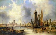 File:View of London with St. Paul's by John Wilson Carmichael.jpg