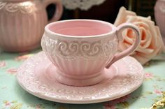 Fashion vintage relief pink lace princess coffee cup and saucer set ceramic retro baroque finishing afternoon tea tools