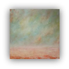 August Moon  Oil Painting on Canvas large 36x36 by traceynicholas, $295.00