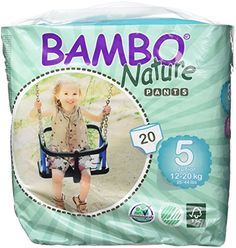 Bambo Nature Premium Baby Diapers Training Pant  Size 5 20 Count * You can find more details by visiting the image link.