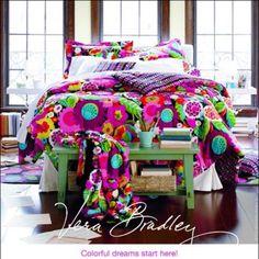 Vera Bradley bedding. LOVE!!! Fav pattern of all time! would love in my bedroom!!!!!!!! #mysuitesetupsweepstakes