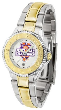 Clemson Football National Champions 2016 Ladies - Competitor Two Tone Watch