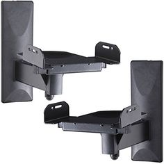 VideoSecu One Pair of Side Clamping Bookshelf Speaker Mounting Bracket with Swivel and Tilt for Large Surrounding Sound Speakers Speaker Wall Mounts, Wall Mount Bracket, Mounting Brackets, Klipsch Speakers, Bookshelf Speaker Stands, Large Bookshelves, Bookshelf Wall, Speakers