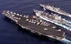 Photo Images of the USS Saratoga Cv-60 | USS Saratoga (CV 60) with CVW-17…